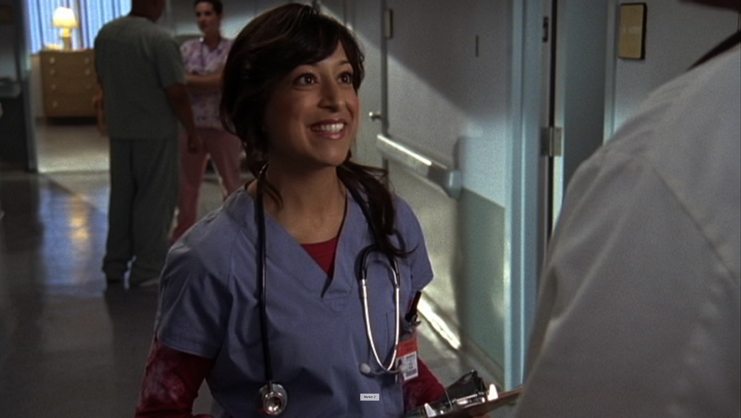 Sonal Shah on the set of ABC's Scrubs